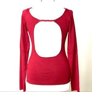Crimson Zara  Backless Sweater